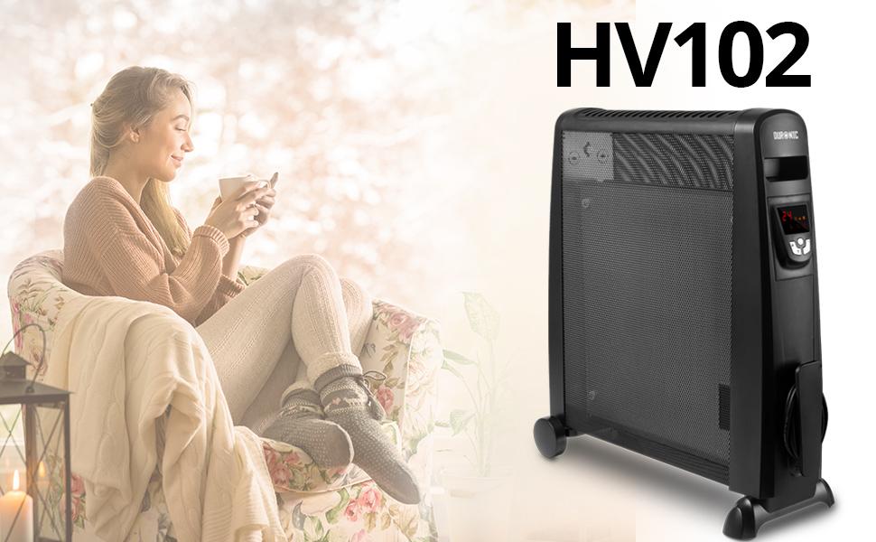 Duronic HV102 Radiador Eléctrico 2500W de Panel de Mica - Estufa ...