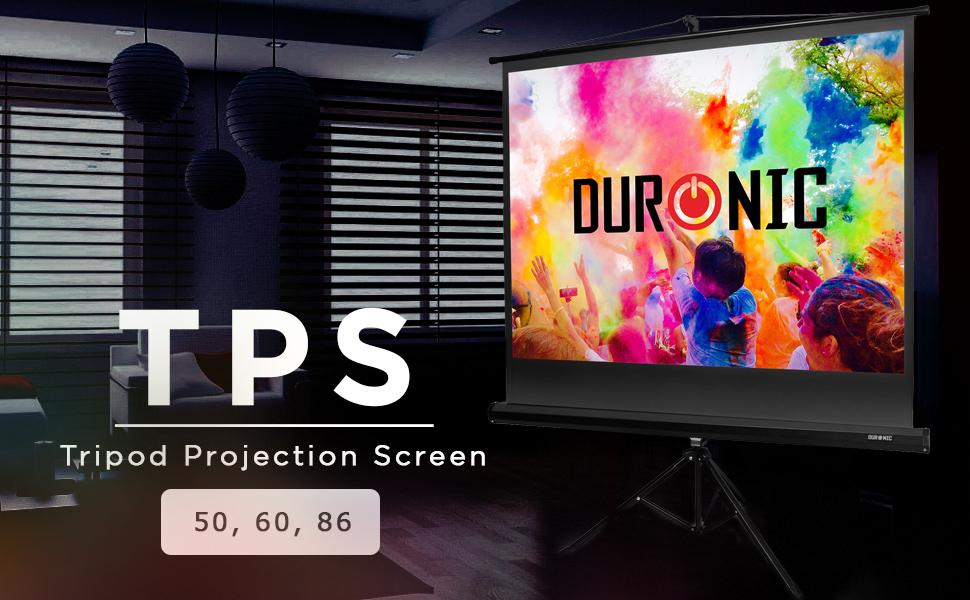 Duronic TPS86 /43 Pantalla de Proyección con Trípode: Amazon.es ...