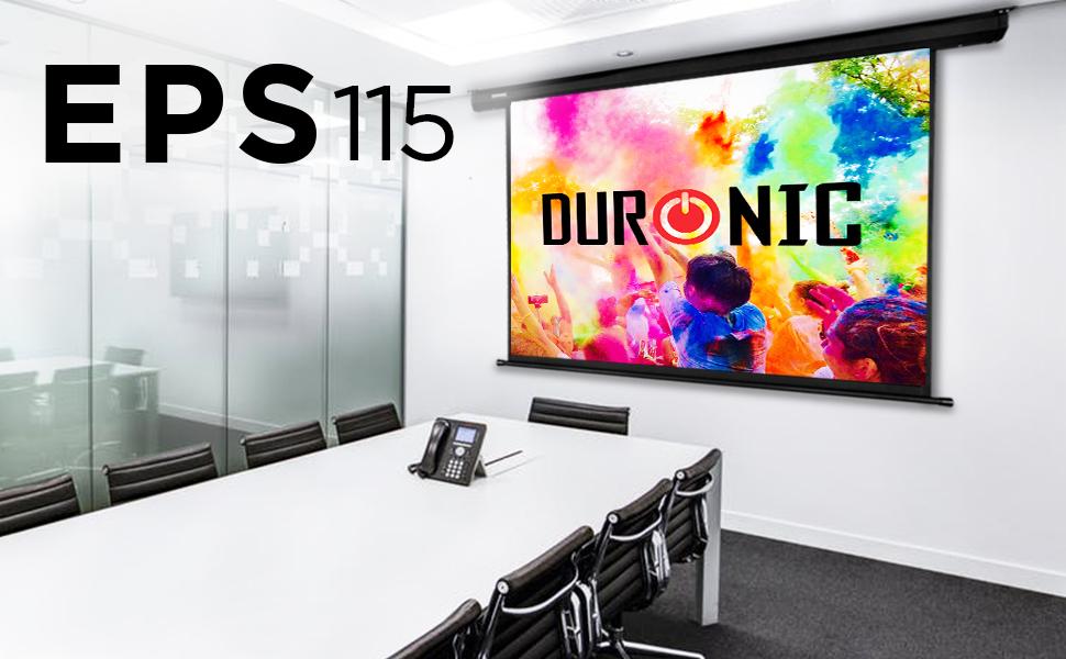 Duronic EPS115 /169 Pantalla para Proyector 119 Pulgadas (255 x ...