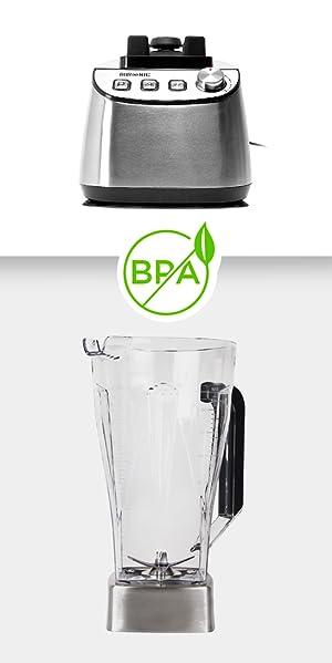 Esta batidora de vaso está fabricada con materiales de primera calidad que ofrecen los mejores resultados en cada batido.