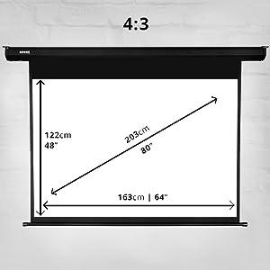 Duronic EPS80 /43 Pantalla de Proyección 80