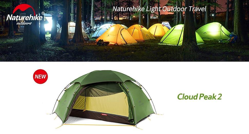 Naturehike Cloud Peak 4 Temporada Tienda de campaña para 2 ...