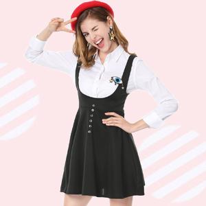 Vestido con tirantes para su moda cotidiana!
