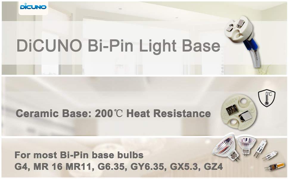 MR11 MR16 GU5.3 Lámpara Cerámica Titular Luz Led De Plomo