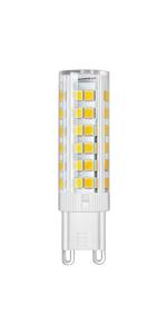 DiCUNO Bombillas LED G9 De 4W Equivalentes A 40W, Blanca cálida 3000K, DiCUNO Bombillas LED G9 De 6W Equivalentes A 60W, Blanca Cálida 3000K ...