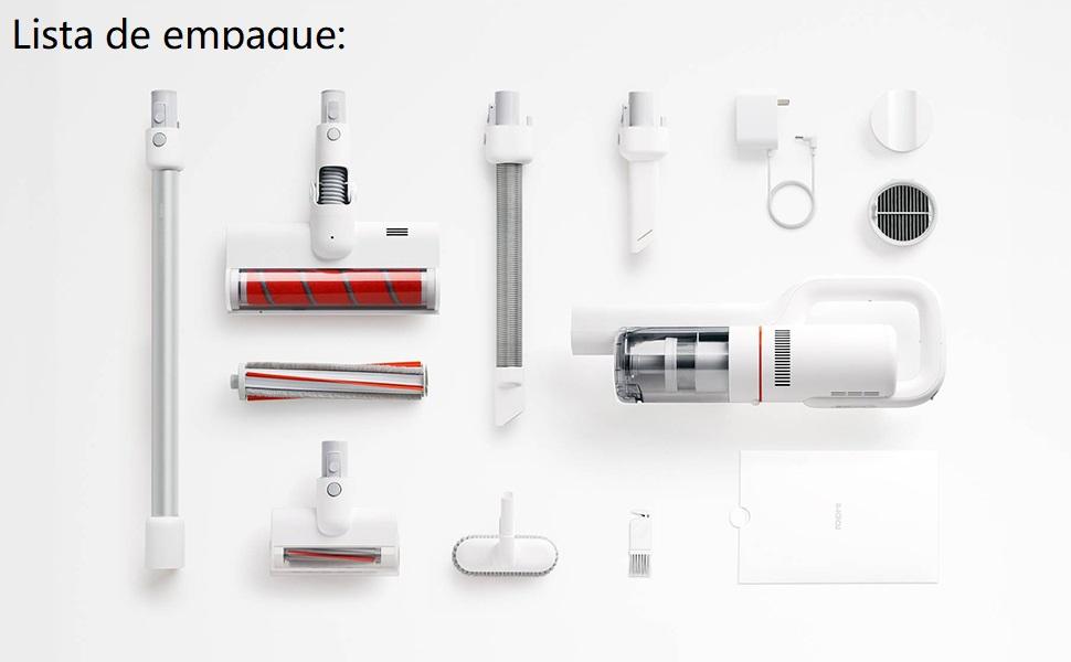 Roidmi Xiaomi F8 Aspirador escoba, Aspirador sin cable, Potencia de succión de 18,500 Pa, Autonomía hasta 55 min, Ruido Bajo, Blanco