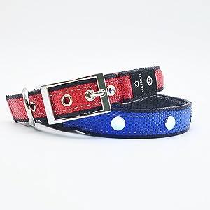 MASBRILL Collar de Perro LED Hecho a Mano USB Recargable ...