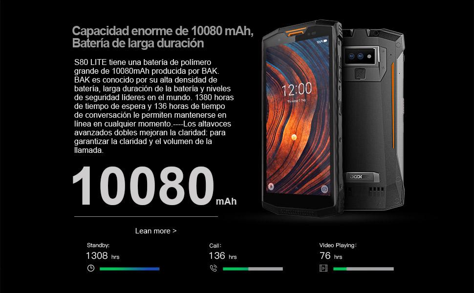 DOOGEE S80 Lite - Smartphone Libre Profesional Walkie-Talkie con ...