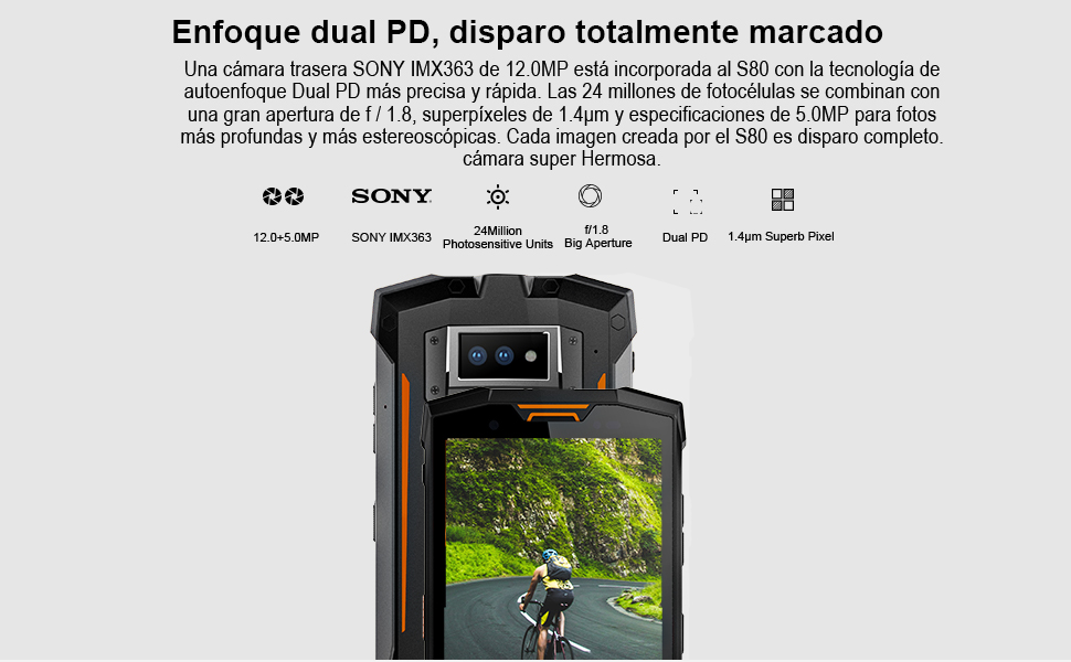 DOOGEE S80 - Smartphone Libre Profesional Walkie-Talkie con 10080mAh batería IP68 / IP69K Impermeable Antipolvo, Android 8.1, 5.99 Pulgadas FHD + ...