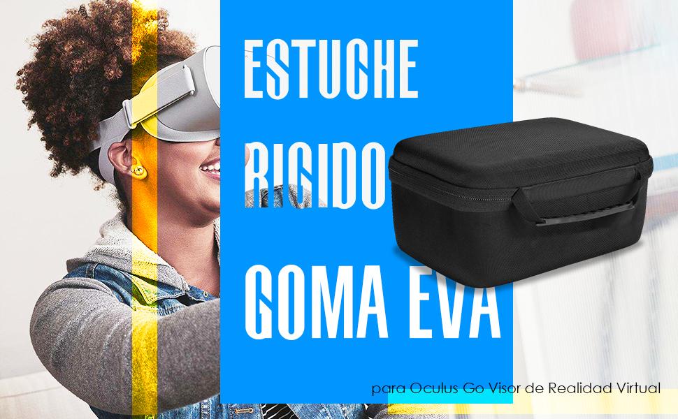 Funda para Oculus Go, ProCase Estuche Goma EVA Rígida de Viaje, Caja Portátil de Almacenamiento, Maletín Protector Foamy Duro para Oculus Go Visor de ...