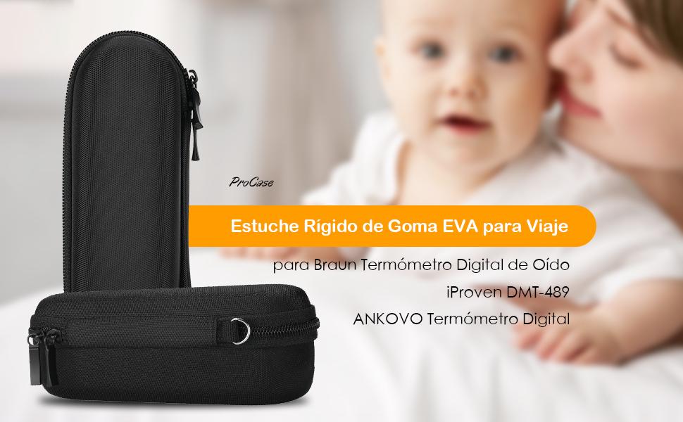 compatible con braun termómetro digital del oído, iproven dmt-489 y termómetro digital ankovo