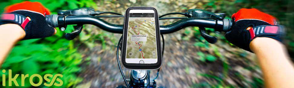 iKross - Soporte con Montura y Funda de Bicicleta protectiva e Impermeable para Dispositivo con Pantalla 3,5-5,5 Pulgadas, Color Negro: Amazon.es: Electrónica