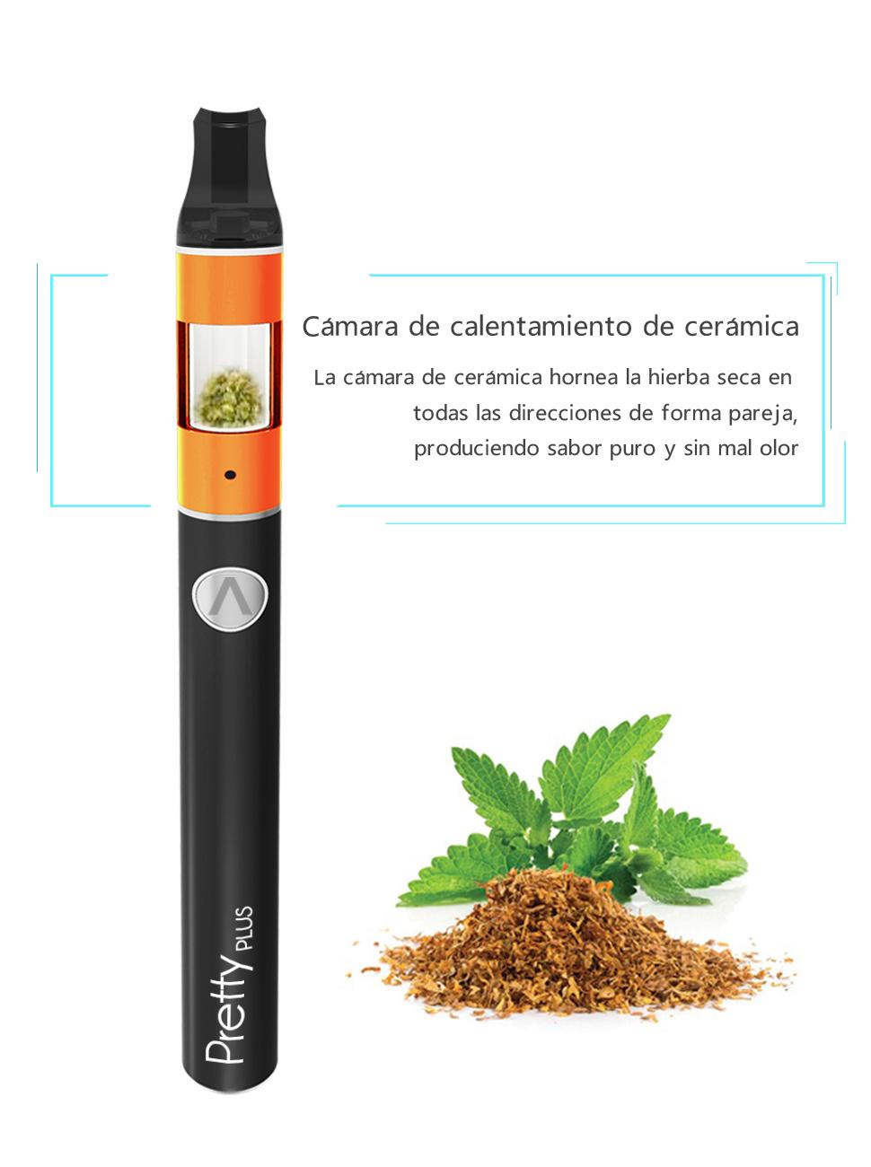 El Vaporizador Atman Pretty Plus en estilo Pen para hierba seca, con cámara de estructura de calentamiento de 360 ° en mega volumen de cerámica para hierba ...