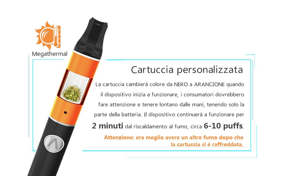 La pluma Atman Pretty Plus Dry Herb Vaporizer Pen está diseñada en alta tecnología, viene con alerta naranja, para indicar a los clientes cuándo está lista ...