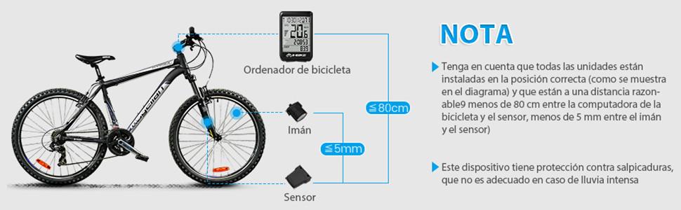 EIVOTOR Velocimetro Bicicleta Cuentakilómetros Ciclocomputadores ...