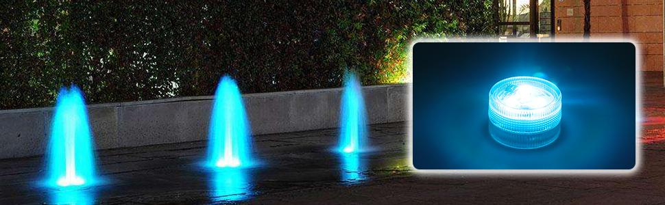 10er Pack Mini RGB LED Luz Sumergible