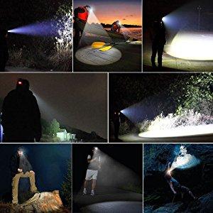 Linterna frontal Led, Led cabeza impermeable con 4 modos de luz ...