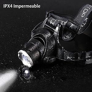 KINGTOP KT568-DE, Lámpara Frontal Impermeable Linterna LED ...