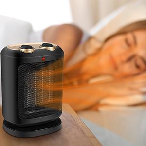 COMLIFE Calefactor Cerámico PTC 900W / 1800W Mini Ventilador de Calentacdor Eléctrico contra Sobrecalentamiento y Protección contra Volcado Viento Natural o Caliente para Oficinas y Hogar: Amazon.es: Hogar