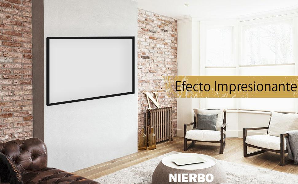 Pantalla Proyector, NIERBO Pantalla para Proyectors Frame PVC 100 ...