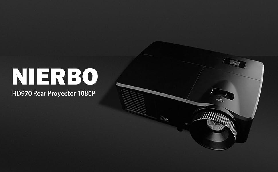 Proyector 1080p, NIERBO Proyector Full HD 6000 Lumens 1920x1080p ...