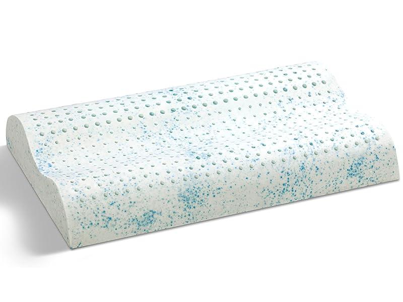 Primo Line Gel látex Almohada Anatomic – Gel Cojín Cervical 38 x 60 Altura 12 cm – Cojín de algodón con Cremallera