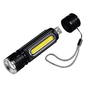 Linterna LED, Cofuture Literna de Mano 4 Modos USB Recargable 800 ...
