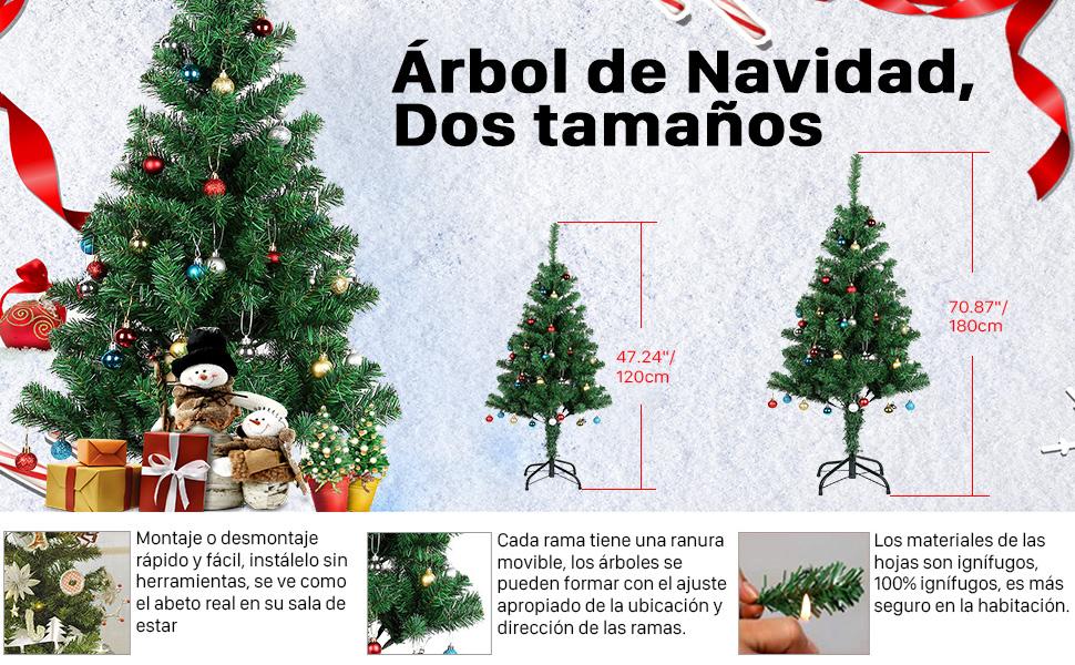 AGM Árbol de Navidad - 180cm Aproximadamente 700 Puntas de Rama ...