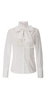 SCARLET DARKNESS Blusa Victoriana Mujer Camisa Steampunk ...