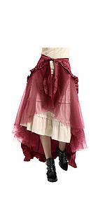 Belle Poque Top Hermosa Mujer gótica Top Mujer Victoriana Traje ...
