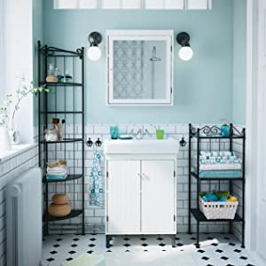 Impermeable: resistente al moho y al jabón, sin vinilo, sin PEVA, respetuoso con el medio ambiente, las cortinas de baño tienen el peso adecuado para evitar ...