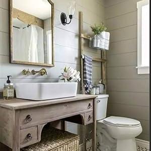 Nuestro exclusivo diseño de planta verde combina una variedad de toallas de colores, alfombras, alfombras de baño y cualquier otro accesorio de baño.
