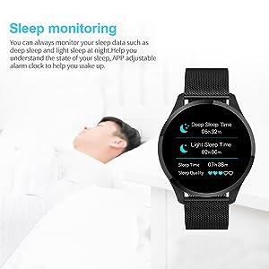 Smartwatch Mujer Hombre, Impermeable Reloj Inteligente Elegante ...