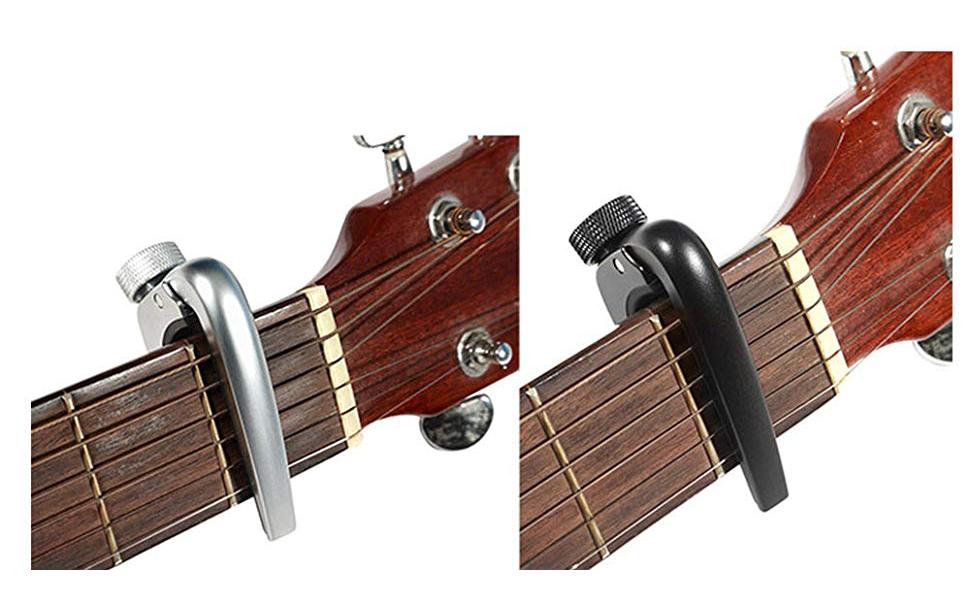 WINGO ajustable guitarra cejilla con micrómetro ajuste de tensión ...