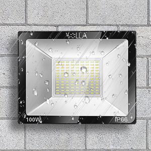 Foco LED 100W IP66 Luz de Seguridad Exterior Impermeable, 8000LM, Luz Blanca 6000K, Foco Exterior de Pared para Patio, Garaje, Almacén, Parking, Jardín, Carreteras, Calles, Plazas, etc.: Amazon.es: Iluminación