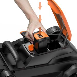 TACKLIFE Cortacésped de batería, 40V Cortacésped, 3 en 1, Ancho de Corte 38 cm, 6 Palanca de Altura de Corte, Caja de Hierba 40L, Manija Doble plegada ...