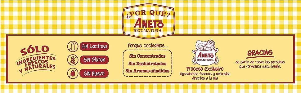 Aneto 100% Natural - Caldo de Pollo - caja de 6 unidades de 1 ...
