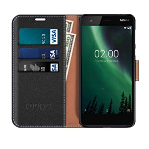 COODIO Funda Nokia 2 con Tapa, Funda Movil Nokia 2, Funda Libro Nokia 2 Carcasa Magnético Funda para Nokia 2, Negro: Amazon.es: Electrónica