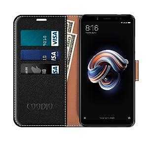 COODIO Funda Xiaomi Redmi Note 5 con Tapa, Funda Movil Xiaomi ...