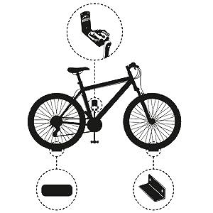 Borgen Gancho de Pared para Colgar Bicicleta para Pedal Bici ...