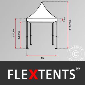 Carpa Plegable Carpa Rapida FleXtents Pro Trapezo 2x3m Blanco ...