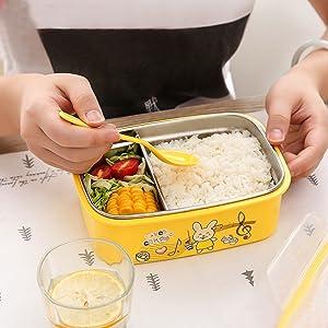 Se puede usar para niños mayores como una bandeja de aperitivos o como adultos para controlar porciones.