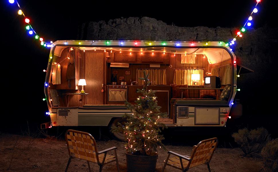 LE Guirnalda de Luces, 10m 100 LED, Enchufe y Programador, 8 Modos, Multicolor, Decoración de Bodas, Fiestas, Navidad etc