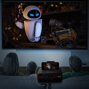 yaufey Mini proyector Cine en casa, LED Full HD proyector Soporte ...