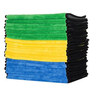 Fabricado en peluche premium 840 GSM de doble capa toallas de microfibra; sin pelusas después del primer lavado, son super más suave y ultra absorbentes que ...