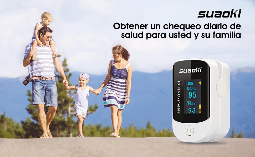 SUAOKI - Pulsioxímetro de Dedo Oxímetro Digital Alarma Pitido ...