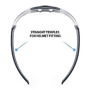 BERTONI Gafas para Moto Lentes Anti-Vaho Envolventes a Prueba de Viento - Gafas para Cascos - AF153