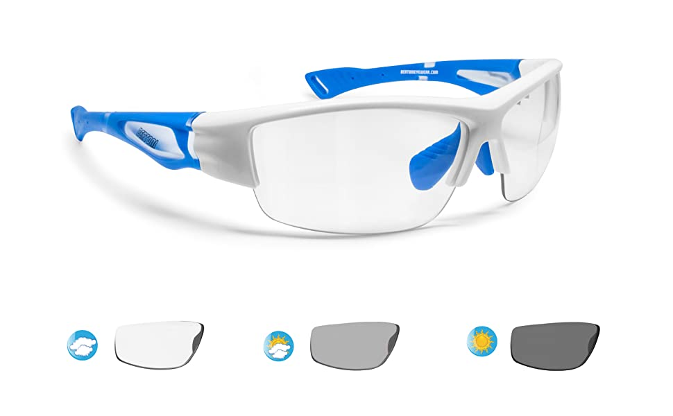 BERTONI Gafas de Sol Deportivas Polarizadas Fotocromaticas para Hombre Mujer Deporte Ciclismo Running Esqui MTB – Mod. 1001