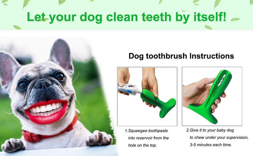 Cepillo de dientes para perros Cepillo de dientes de goma natural ...