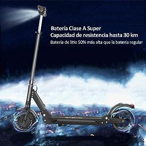 magicelec Patinete Eléctricoplegable, 350 W Eléctrico Scooter, Ruedas antirreventón Tubeless de 8,5